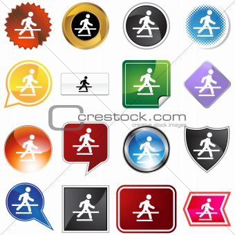 Crosswalk Icon Set