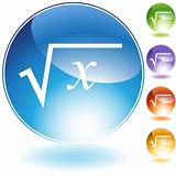 Square Root Crystal Icon