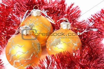 Christmas balls and a tinsel
