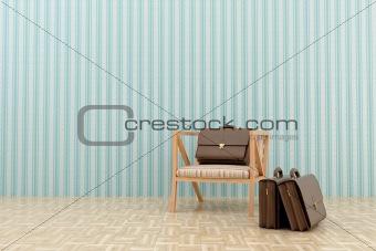 chair and three portfolio