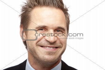 Portrait of young and happy business man