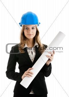 Beautiful female architect