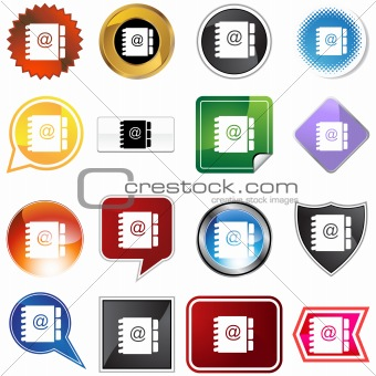 Address Book Icon Set