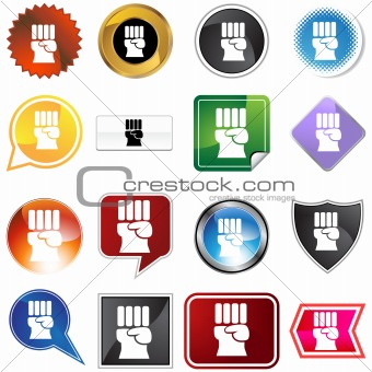 Freedom Fist  Icon Set