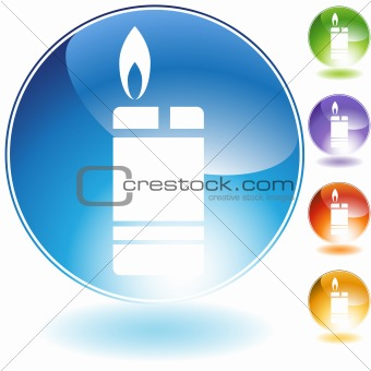 Cigarette Lighter Crystal Icon