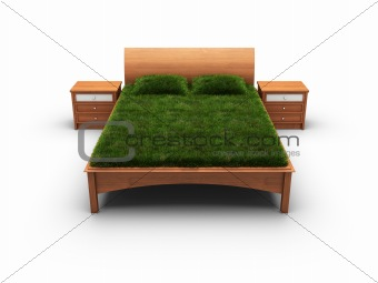 bed designed as an herbal