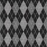 grey tartan knitwork pattern