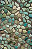 colored pebbles path