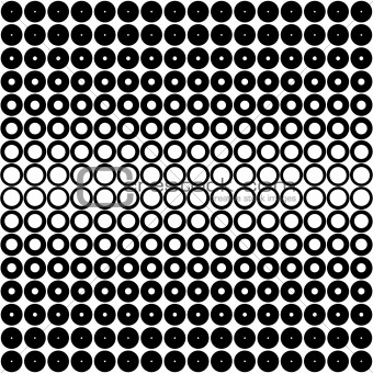 black and white dots pattern