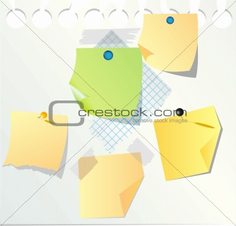 blank paper notes