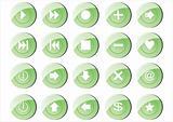 20 green buttons