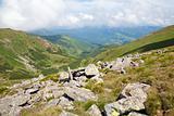 large stones on summer mountainside