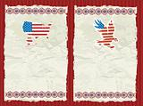 USA textured backgrounds.