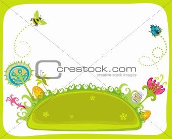 Magical Easter spring garden.