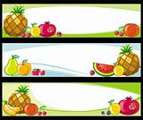 Fruit banners.