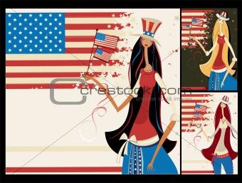 Beautiful American girls set