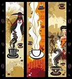 Coffee girls banners