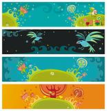 Magical nature banners
