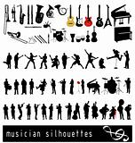 musician silhouettes collection