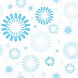 Seamless pattern with snowflakes and stars