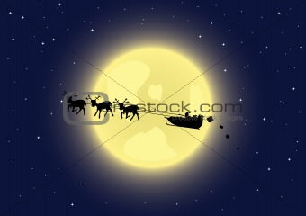 Santa's sleigh in the sky