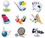 Vector cartoon style icon set. Part 35. Sport
