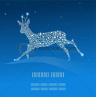 Blue Christmas deer