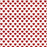 Red hearts on the white backgound