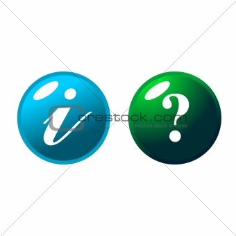 Green and blue web buttons