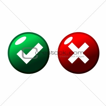 Green and red web buttons