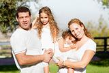 Happy cheerful family