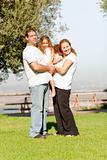 Full length family lifestyle portrait
