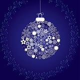 Christmas decoration snowflakes blue