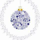 Christmas decoration snowflakes blue white