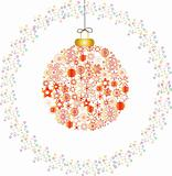 Christmas decoration snowflakes red white