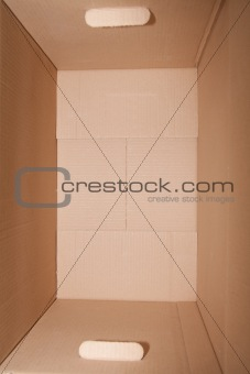 the cardboard box; closeup, isolated