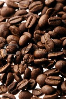 a brown background ot fresh coffee