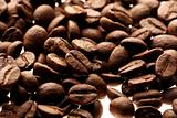 a brown background ot fresh coffee