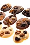 a brown background ot fresh chocolate