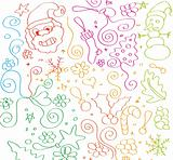 Child hand made sketch of Christmas Elements