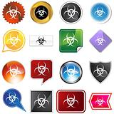 Biohazard Icon Set