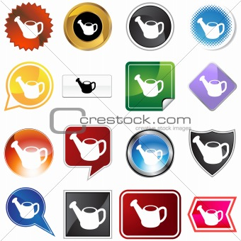 Watering Can Icon Set
