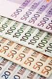European currency euros closeup