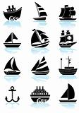 Nautical Web Buttons - Black and White