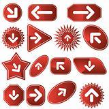 Navigation Label Set - Red