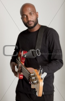 Handsome bass guitarist