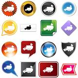 Garbage Truck Icon Set