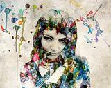 Grange watercolor girl