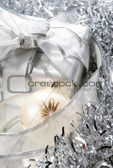 Christmas ball and gift