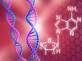 DNA formula concept background
